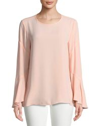 Vince Camuto - Roundneck Bell Sleeve Blouse - Lyst