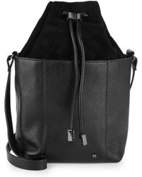 Halston - Classic Leather Bucket Bag - Lyst