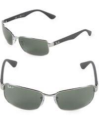 Ray-Ban 60mm Polarized Rectangle Sunglasses - Multicolor