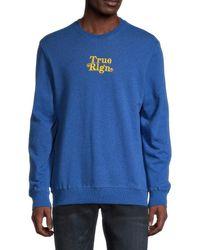 True Religion Logo-embroidered Sweatshirt - Blue