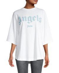 Palm Angels Oversized Logo T-shirt - White