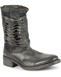 John Varvatos - Simmons Twisted Pavement Leather Boots - Lyst