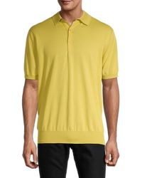 Loro Piana Men's Solid Polo - Vibrant Yellow - Size M