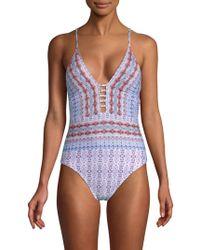 La Blanca - Sorrento Plunge One-piece Swimsuit - Lyst