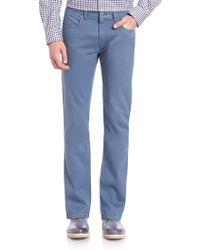 Saks Fifth Avenue Sulfur Dyed Cotton Pants - Blue