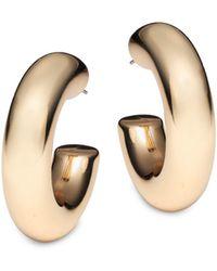 Kenneth Jay Lane Goldtone C-hoop Earrings - Multicolor