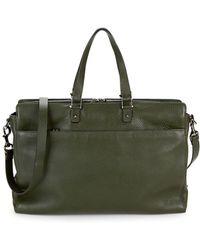 Valentino - Slim Pebbled-leather Briefcase - Lyst