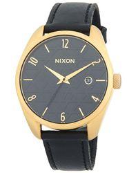 Nixon - Bullet Leather Stainless Steel Quartz Strap Watch - Lyst