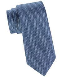 Brioni Woven Silk Tie - Blue