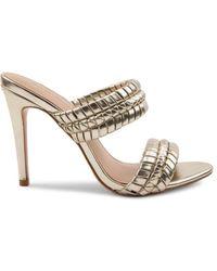 BCBGeneration Women's Jendi Faux Leather Sandals - Gold - Size 8.5 - Metallic