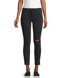 DL1961 Margaux Instasculpt Cropped Jeans - Black