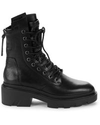Ash Maddox Platform Moto Boots - Black