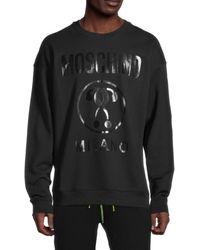 Moschino ! Logo Regular-fit Sweatshirt - Black