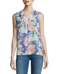 B Collection By Bobeau - Floral V-neck Top - Lyst
