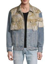 Hudson Jeans Mixed-media Denim Jacket - Multicolor