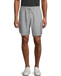 Saks Fifth Avenue Linen Cargo Shorts - Grey