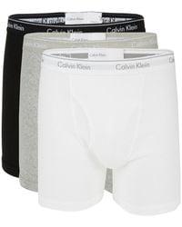 Calvin Klein 100% Cotton Boxer Briefs - White