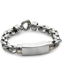 Saks Fifth Avenue - 14k Yellow Gold & Stainless Steel Bracelet - Lyst