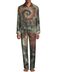 Valentino - Two-piece Tie-dyed Silk Pajama Set - Lyst