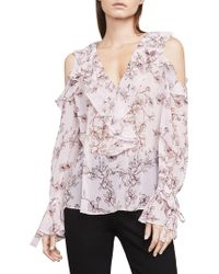 BCBGMAXAZRIA - Laurenne Cold-shoulder Top - Lyst