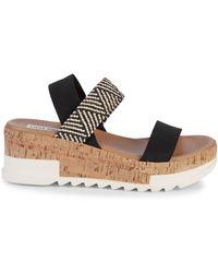 Steve Madden Elmira Wedge Sandals - Black