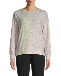 Workshop Pastel Leopard-print Sweatshirt - Grey