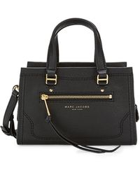 Marc Jacobs Mini Cruiser Leather Satchel - Black