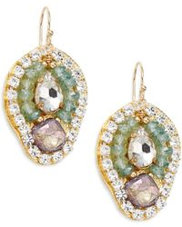 Eva Hanusova - Petal Blue Topaz Drop Earrings - Lyst
