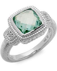 Judith Ripka - Sapphire & Sterling Silver Ring - Lyst