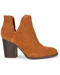 Splendid Lani Suede Stack-heel Booties - Brown