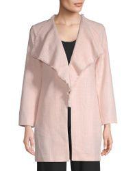 Karl Lagerfeld - Textured Tweed Coat - Lyst
