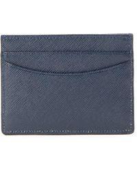 Saks Fifth Avenue - Saffiano Leather Cardholder - Lyst