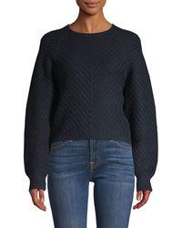 Equipment Leotine Cashmere-blend Sweater - Blue