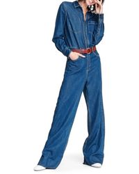 Rag & Bone Women's All In One Denim Jumpsuit - Willow - Size 23 (00) - Blue