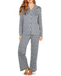 Cosabella Amore 2-piece Printed Pajama Set - Gray