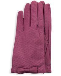 Portolano Perforated Leather Gloves - Multicolour