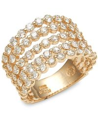 Effy 14k Yellow Gold & Diamond Ring - Metallic