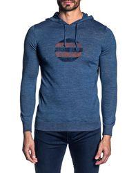 Jared Lang Lightweight Knit Hoodie - Blue