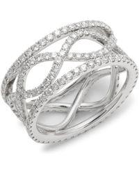 Kwiat - Wave Diamond & 18k White Gold Ring - Lyst