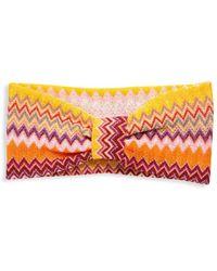 Missoni Multicolored Chevron Headband - Pink