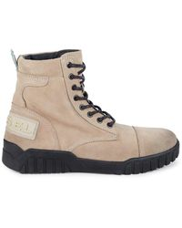 DIESEL H-rua Suede Lace-up Boots - Brown