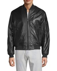 William Rast - Leather Moto Jacket - Lyst