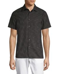 Perry Ellis - Slub Space Dyed Cotton Button-down Shirt - Lyst