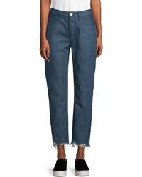 3x1 Higher Ground Crop Jeans - Blue