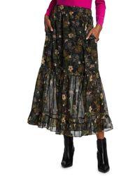 Generation Love Selena Floral Midi Skirt - Black