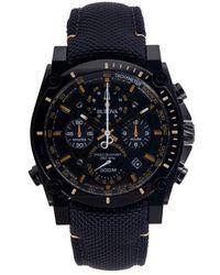 Bulova Precisionist Stainless Steel & Cordura-strap Chronograph Watch - Black