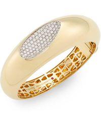 Roberto Coin - Capri Plus Diamond & 18k Yellow Gold Bracelet - Lyst