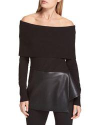 Donna Karan Off-the-shoulder Tunic - Black