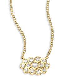 Ippolita Glamazon® Stardust Triple Petite Diamond & 18k Yellow Gold Pendant Necklace - Metallic