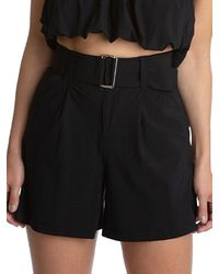 Juicy Couture Women's Belted Shorts - Black - Size L